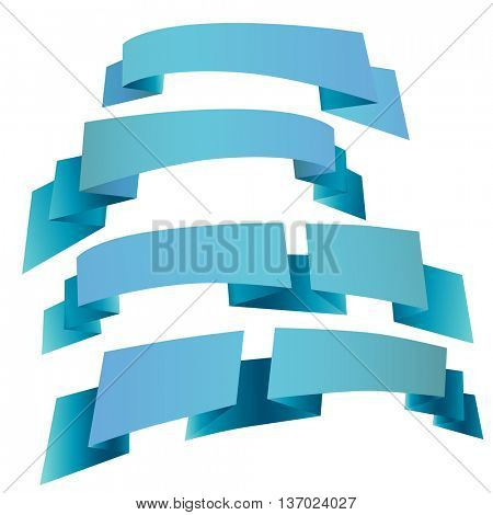 decorative festive ribbons. illustration.