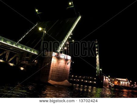 Drawbridge In St. Petersburg