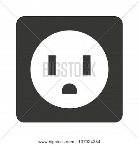 electrical outlet isolated icon design, vector illustration  graphic