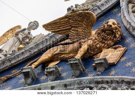 Winged Golden Lion Of St Mark