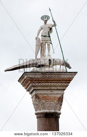 Saint Theodore Column In Venice