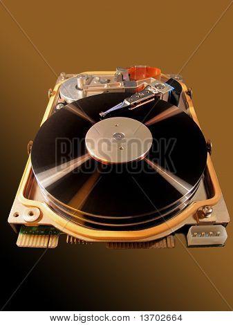 Ancient hard disk of computer