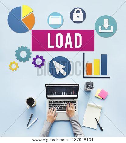 Load Downloading Online Internet Concept