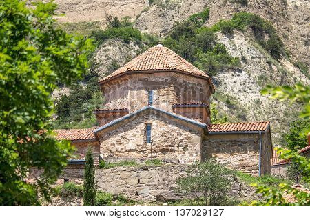 ancient mountain monastery in Georgia - Shiogvime. It was found by one of the 12 assirian monk - Shio who came to Georgia in 6 century AD.