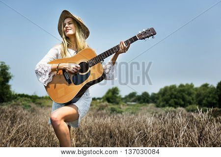 Woman Solo Artist Nature Concept