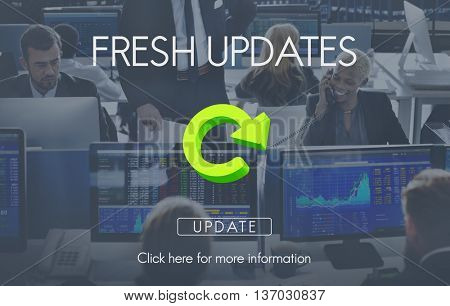 Fresh Updates Website Webpage Networking Concept