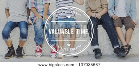 Valuable Time Management Wealth Deadline Concept