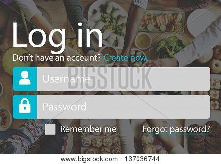 Log In Sign Up Website Concept