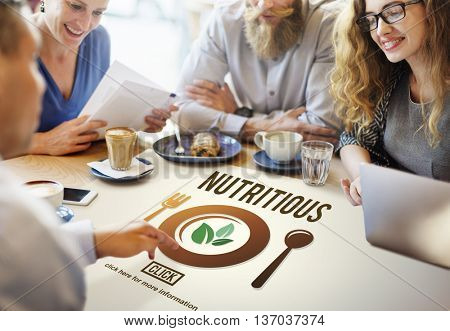 Nutritious Healthy Natural Food Lifestyle Concept