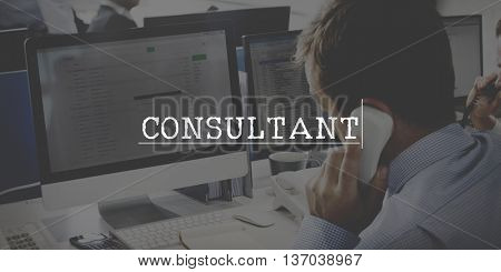 Consultant Adviser Service Information Business Concept