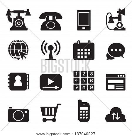 Basic Phone & application Icons Set Vector illustration Graphic design