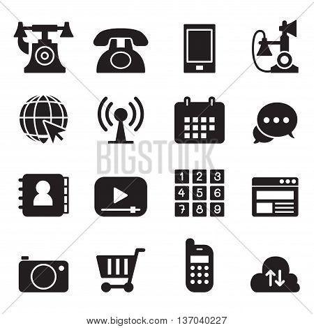 Basic Phone & application Icons Set Vector illustration Graphic design
