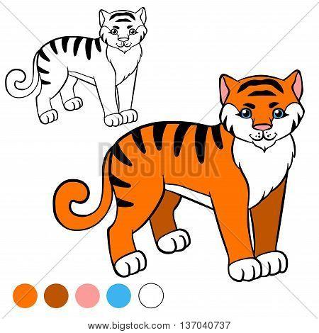 Coloring Page. Color Me: Tiger.