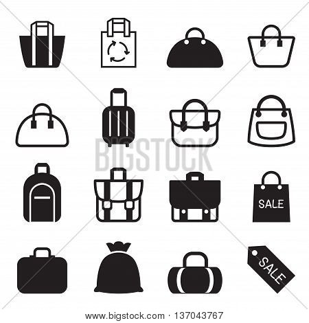 Bag icon set Vector illustration graphic design