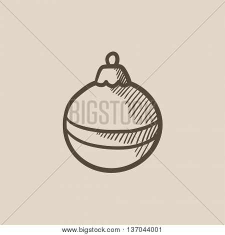 Christmas-tree decoration vector sketch icon isolated on background. Hand drawn Christmas-tree decoration icon. Christmas-tree decoration sketch icon for infographic, website or app.