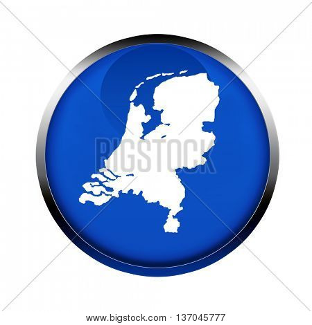 Netherlands map button in the colors of the European Union.