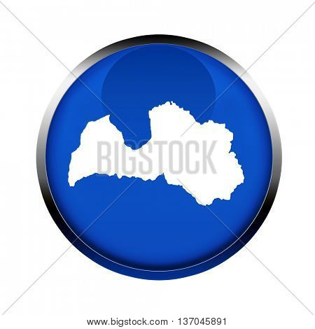 Latvia map button in the colors of the European Union.