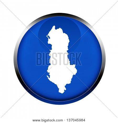Albania map button in the color of the European flag.