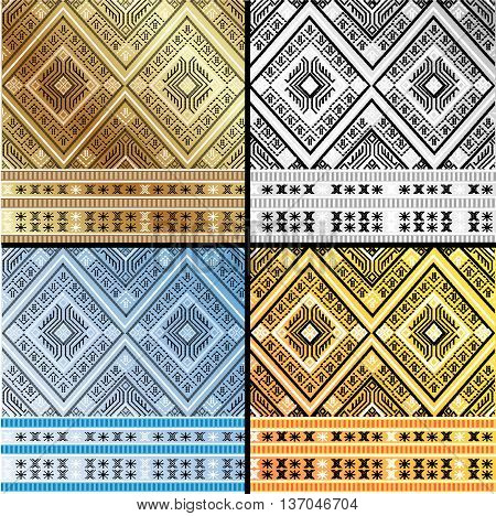 Thai Art Culture Pattern Vintage for background