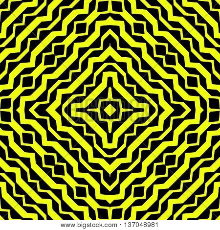 Diagonal Yellow Curved Stripes