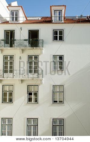 White facade