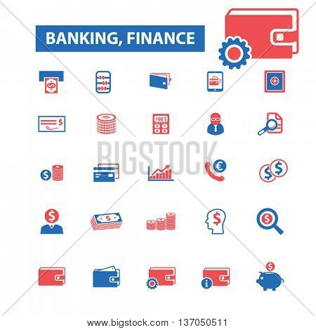 banking, investment, bank, trading, investor, wealth, deposit, market, payment, deposit, bankir, cash, finance, money, invoice, financial transfer, insurance, piggy, atm, wallet icons, signs, vector