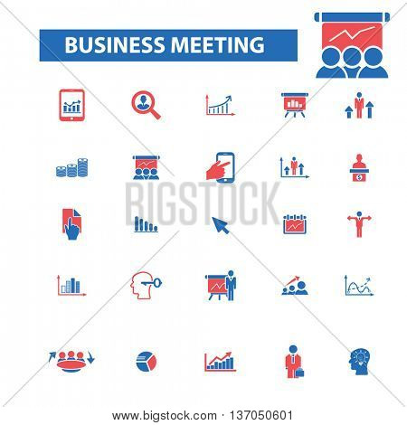 business meeting, company, partner, team, management, community, workforce, human resources, user, leader, social media, global communication, person, discussion, employee icons, signs set