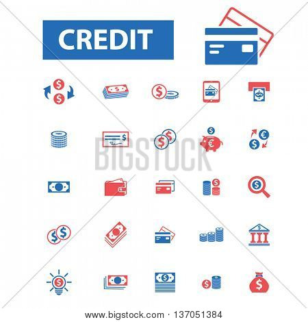 credit, investment, bank, trading, investor, wealth, deposit, market, payment, bankir, cash, finance, money, check, wallet icons, signs vector