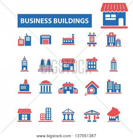 business building, house, home, city, urban, real estate, suburb, downtown, cityscape, skyscraper, architecture, construction, residential icons, signs concept vector