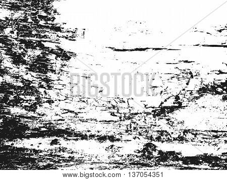 Distressed overlay wooden bark texture grunge background. abstract vector illustration.