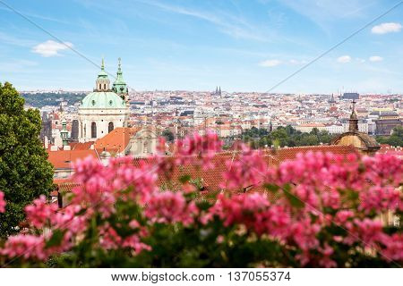 View on the Prague with St. Nicholas' Cathedral