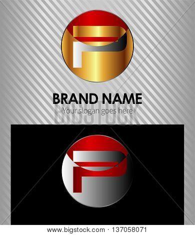 Letter P logo template Letter P logo template