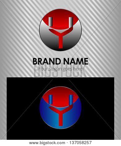 Letter Y logo symbol design template  template design vector