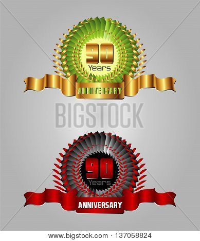 90 years Anniversary vector celebration template design vector