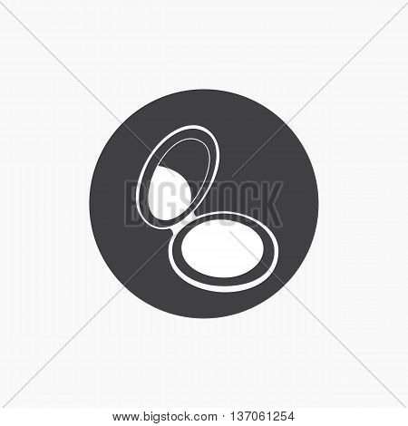 Powder box vector sketch icon isolated on background.