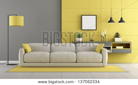 Gray And Yellow Modern Lounge