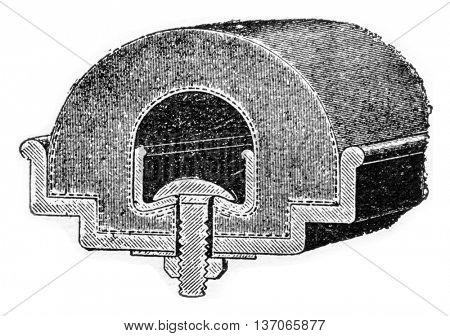 Ducasble bandage, vintage engraved illustration. Industrial encyclopedia E.-O. Lami - 1875.