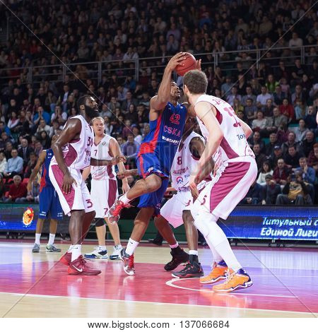 Bc Cska Forward Kyle Hines (42) With Ball