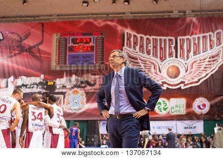 Bc Krasnye Krylia Head Coach Sergey Bazarevich