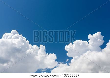 abstract white clouds in blue sky