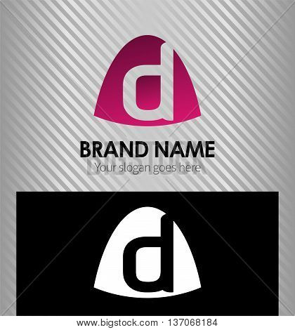 Abstract Letter d Icon logo template design vector
