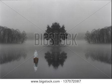 Mystic lake 3D Render