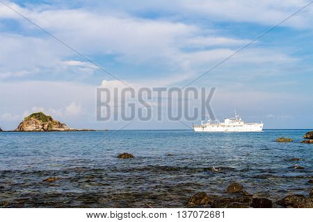 Yacht and stone natural pattern background abstract texture