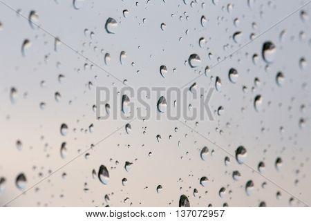 Rain drops on glassDrops on glass background.