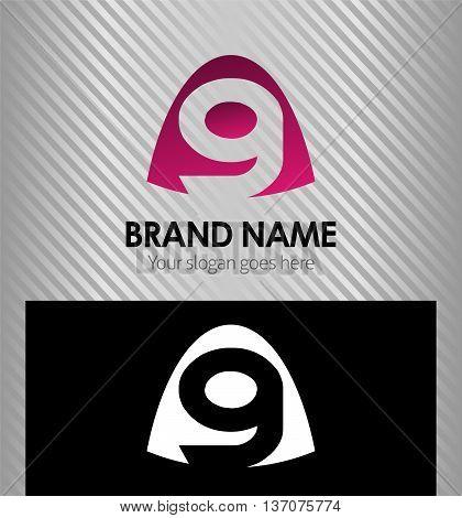 Number nine logo.Logo 9 vector template template design vector