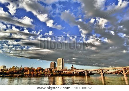 Traffic Bridge In Saskatoon