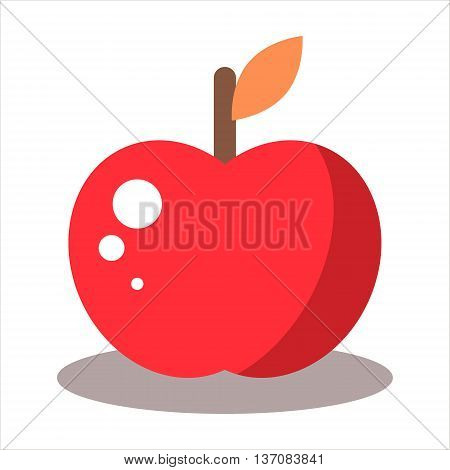 Yummy red apple fruit- stock vector illustration