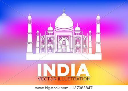 Taj Mahal, Agra, India Vector
