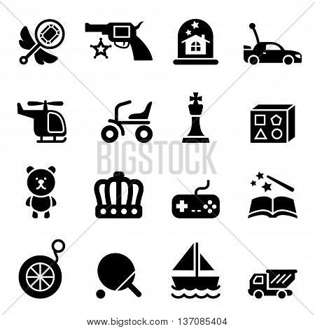 Toy icons set Vector illustration graphic design