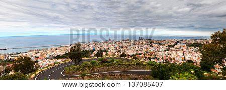 panoramic view of Santa Cruz de Tenerife the capital of Tenerife Island